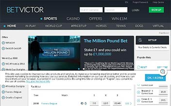 Screenshot 1 Betvictor Casino
