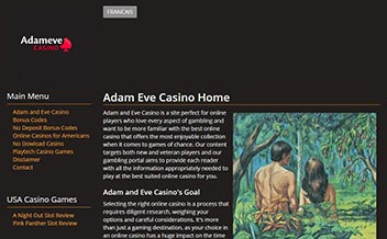 Screenshot 1 Adameve Casino
