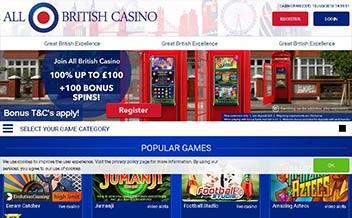 Screenshot 1 All British Casino