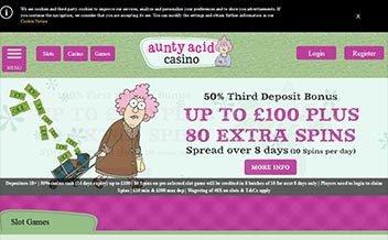 Screenshot 1 Aunty Acid Casino