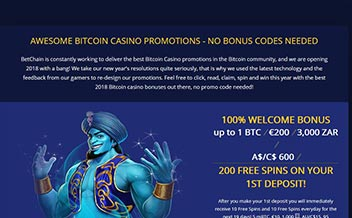 Screenshot 2 BetChain Casino