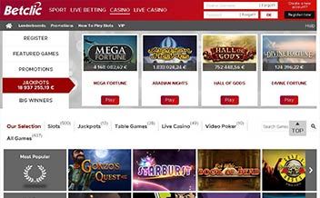 Screenshot 4 BetClic Casino