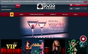 Screenshot 1 BOSS Casino