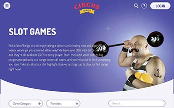 Screenshot 2 Circus Bingo Casino