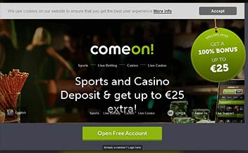 Screenshot 4 ComeOn Casino