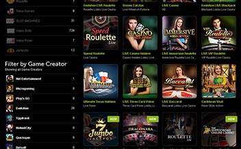Screenshot 3 ComeOn Casino