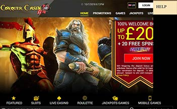 Screenshot 1 Conquer Casino