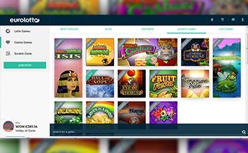 Screenshot 4 EuroLotto Casino
