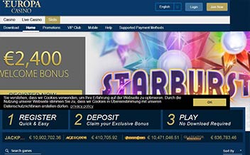 Screenshot 3 Europa Casino