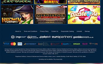Screenshot 2 Europa Casino