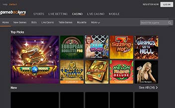 Screenshot 2 Gamebookers casino