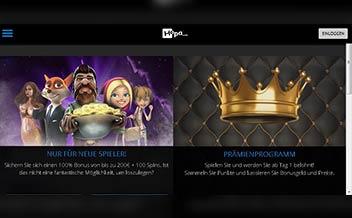 Screenshot 1 Hopa Casino
