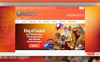 Screenshot 2 LeoVegas Casino