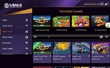 Screenshot 1 Miami Club Casino