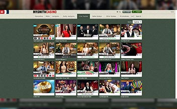 Screenshot 1 Mr Smith Casino