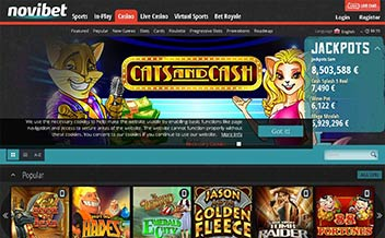 Screenshot 4 Novibet Casino