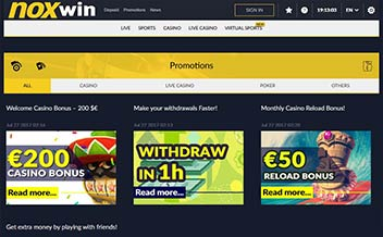 Screenshot 1 Noxwin Casino