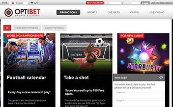 Screenshot 1 Optibet Casino