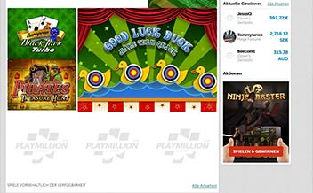 Screenshot 1 Play Million Casino