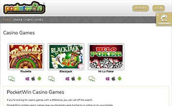 Screenshot 3 Pocketwin Casino