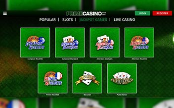 Screenshot 1 Prime Casino