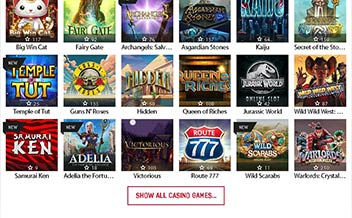 Screenshot 1 Redbet Casino
