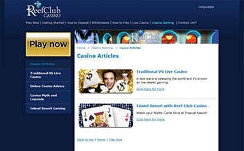 Screenshot 3 Reef Club Casino