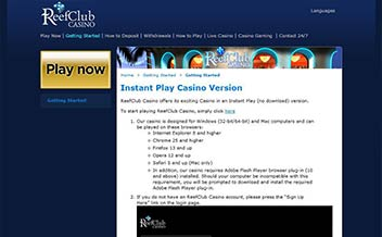 Screenshot 2 Reef Club Casino