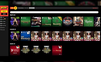 Screenshot 1 Rizk Casino