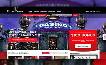 Screenshot 1 Royal Panda Casino