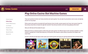 Screenshot 3 Simba Games Casino