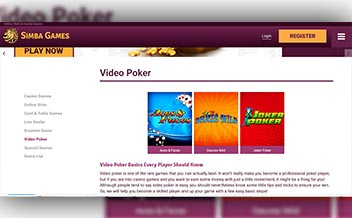 Screenshot 2 Simba Games Casino