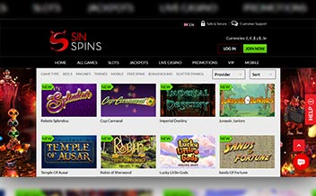 Screenshot 3 Sin Spins Casino