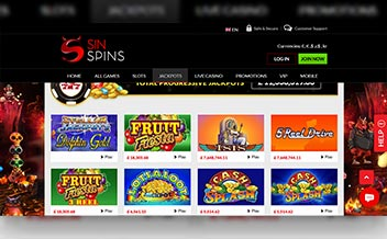Screenshot 4 Sin Spins Casino