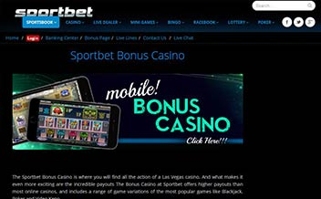 Screenshot 3 Sportbet Casino