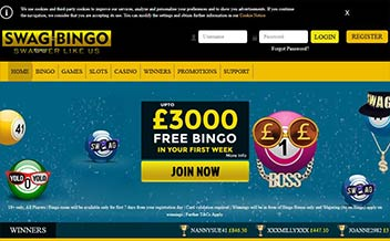 Screenshot 2 Swag Bingo Casino