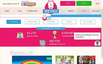 Screenshot 1 Ted Bingo Casino