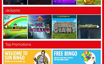 Screenshot 4 The Sun Bingo Casino