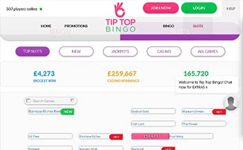 Screenshot 4 Tip Top Bingo Casino
