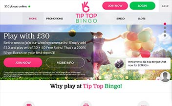 Screenshot 2 Tip Top Bingo Casino