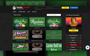 Screenshot 1 Trada Casino