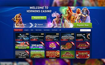 Screenshot 1 Vernons Casino