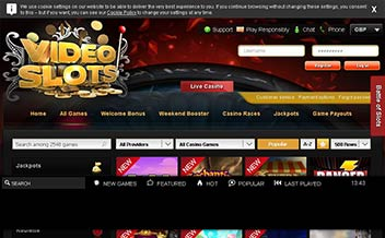 Screenshot 1 Videoslots Casino