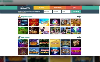 Screenshot 1 Winneroo Casino