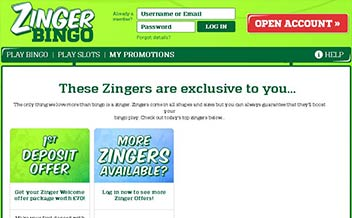 Screenshot 3 Zinger Bingo Casino