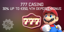 30% Match 4th Deposit Bonus at 777 Casino