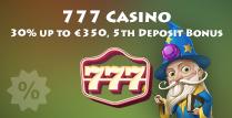 30% Match 5th Deposit Bonus at 777 Casino