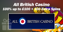 100% and 100 Extra Spins Welcome Bonus