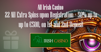 22 All Extra Spins and 50% Deposit Match Of Up To €500