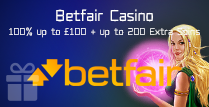 100% Bonus up to £100 and 200 Extra Spins